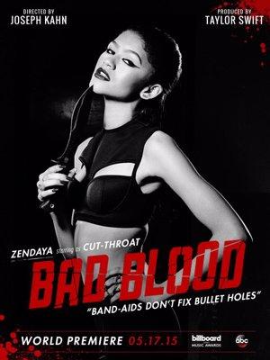 Zendaya  en el póster promocional de Bad Blood