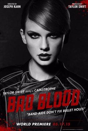 Taylor Swift en el póster promocional de Bad Blood