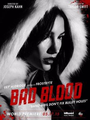 Lily Aldridge  en el póster promocional de Bad Blood