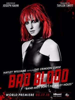 Hayley Williams  en el póster promocional de Bad Blood