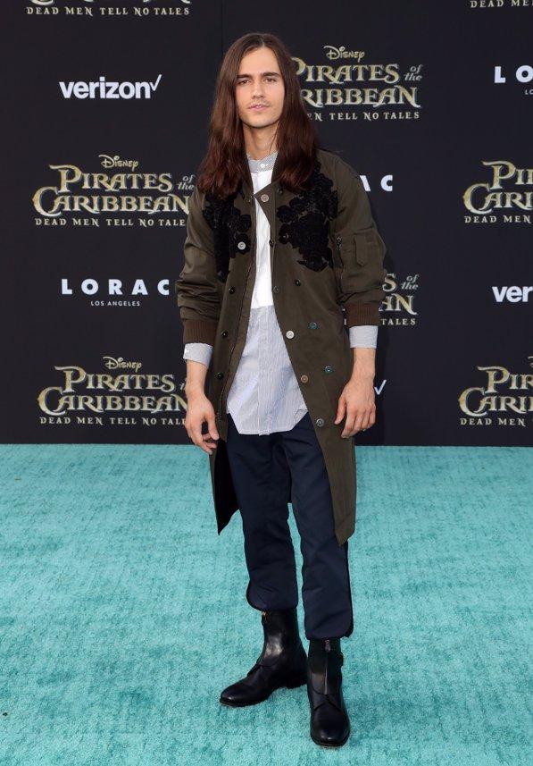 El actor Anthony de la Torre en la premiere de Piratas del Caribe La Venganza de Salazar en California. Getty Images