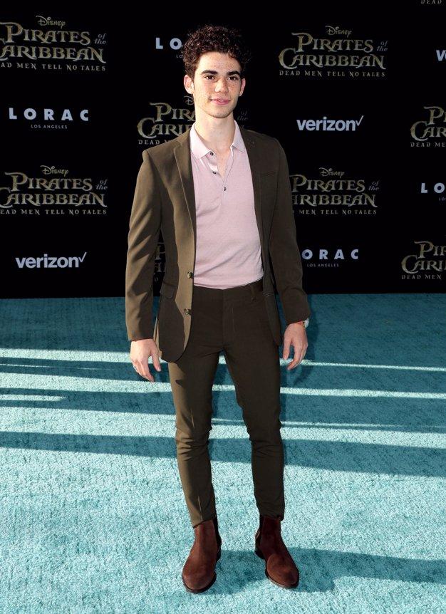 El actor Cameron Boyce en la premiere de Piratas del Caribe La Venganza de Salazar en California. Getty Images