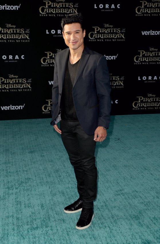 El actor Mario Lopez en la premiere de Piratas del Caribe La Venganza de Salazar en California. Getty Images