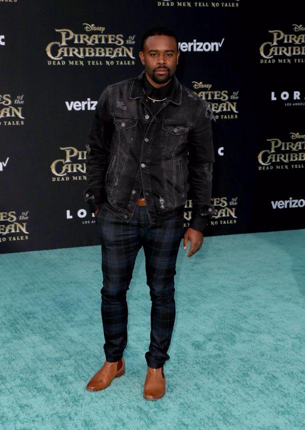 El actor Tobie Windham en la premiere de Piratas del Caribe La Venganza de Salazar en California. Getty Images