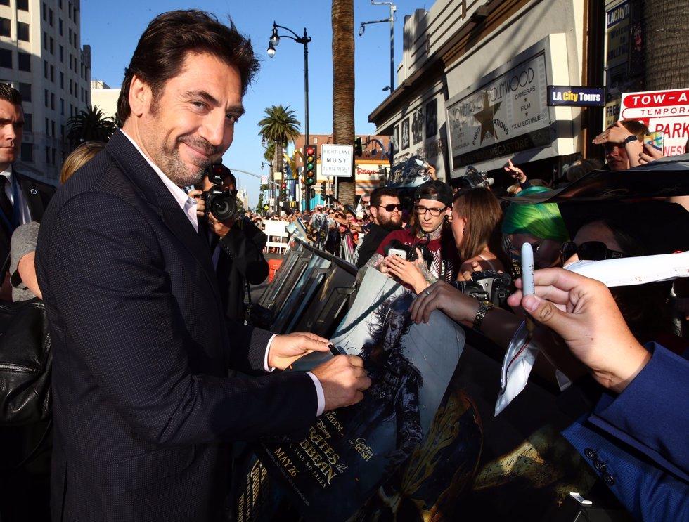 Javier Bardem en la premiere de Piratas del Caribe La Venganza de Salazar en California. Getty Images