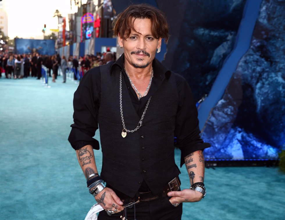 Johnny Depp en la premiere de Piratas del Caribe La Venganza de Salazar en California. Getty Images