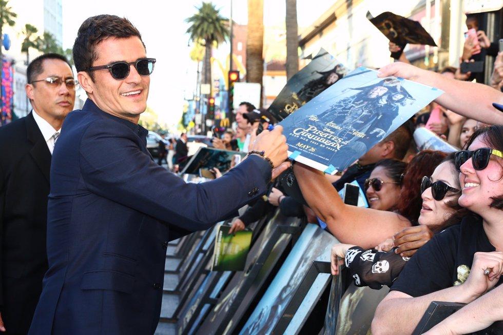 El actor Orlando Bloom en la premiere de Piratas del Caribe La Venganza de Salazar en California. Getty Images