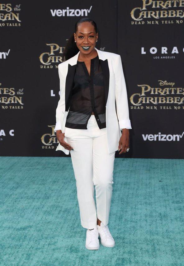 La actriz Tichina Arnold en la premiere de Piratas del Caribe La Venganza de Salazar en California. Getty Images