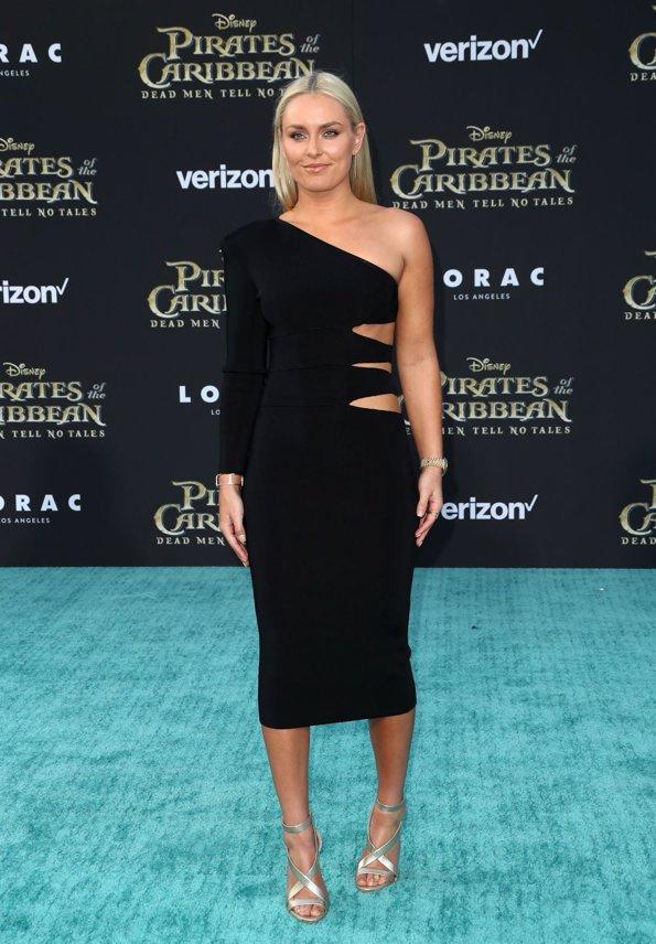 Lindsey Vonn en la premiere de Piratas del Caribe La Venganza de Salazar en California. Getty Images