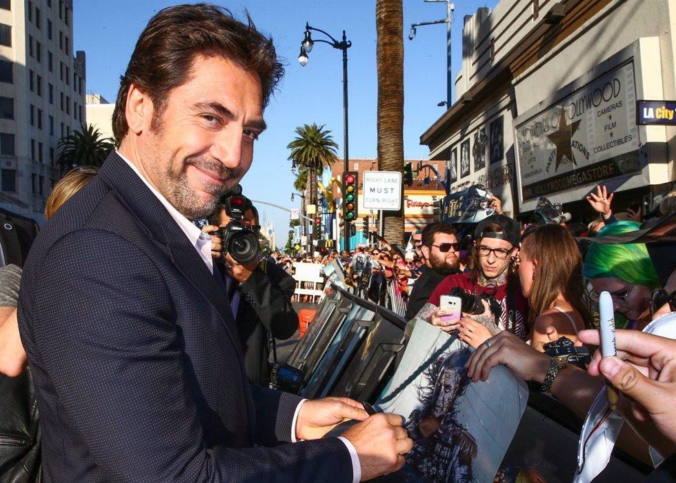 Javier Badem en la premiere de Piratas del Caribe La Venganza de Salazar en California. Getty Images