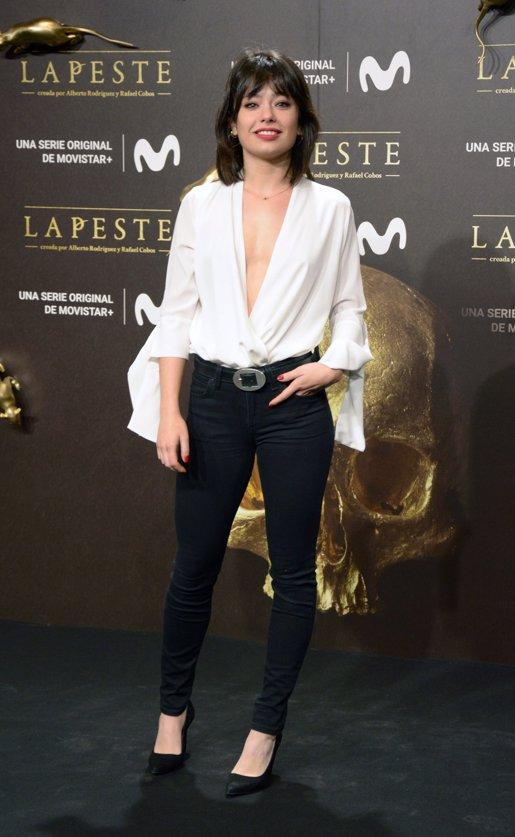 Anna Castillo en el estreno de La Peste
