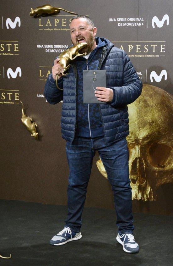 Pepón Nieto en el estreno de La Peste