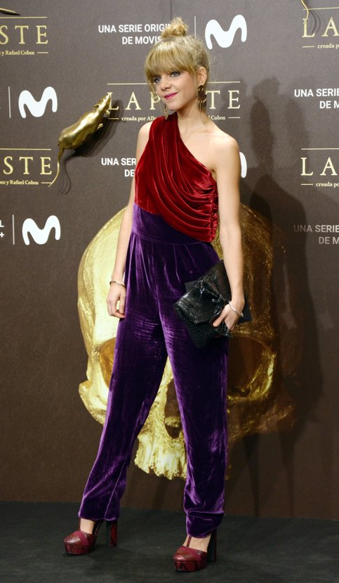 Lucía Diez en el estreno de La Peste