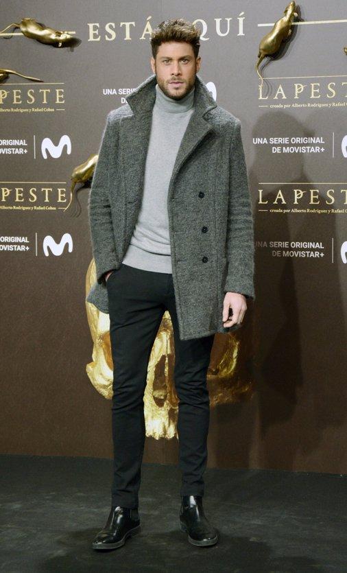 José Lamuño en el estreno de La Peste