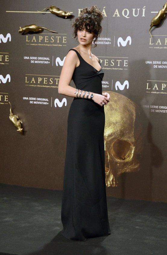 Cecilia Gómez en el estreno de La Peste
