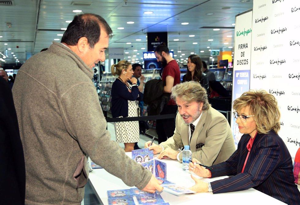 María Teresa Campos y Edmundo Arrocet firman su primer disco juntos