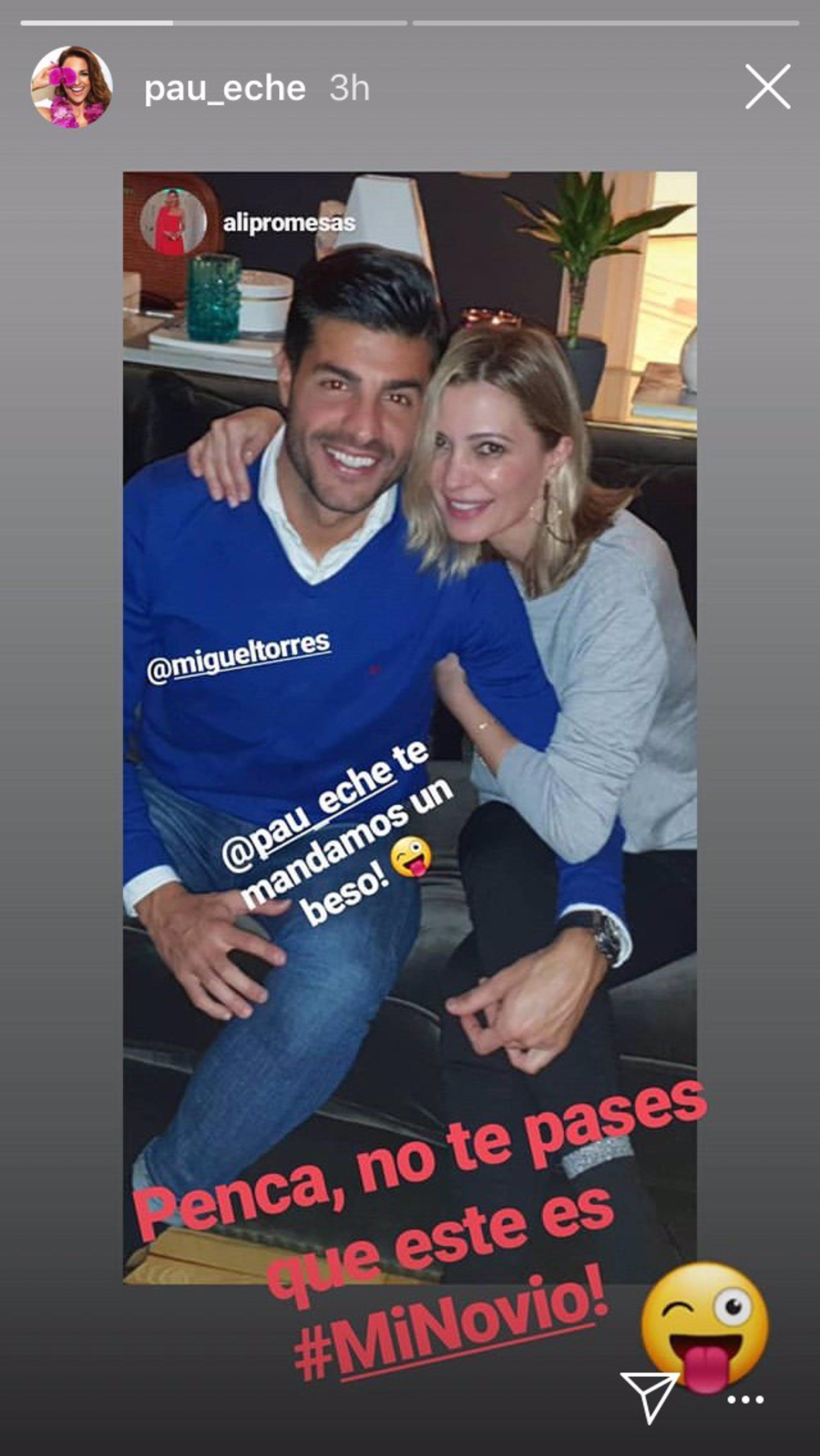 Miguel Torres, novio de Paula Echevarría, y Ali Promesas en Instagram