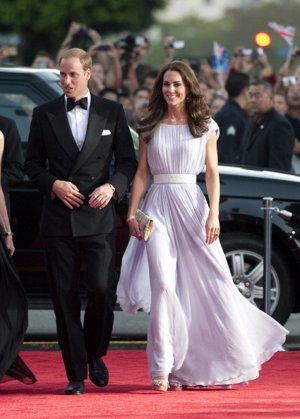 Kate Middleton con vestido vaporoso en los Bafta 2017