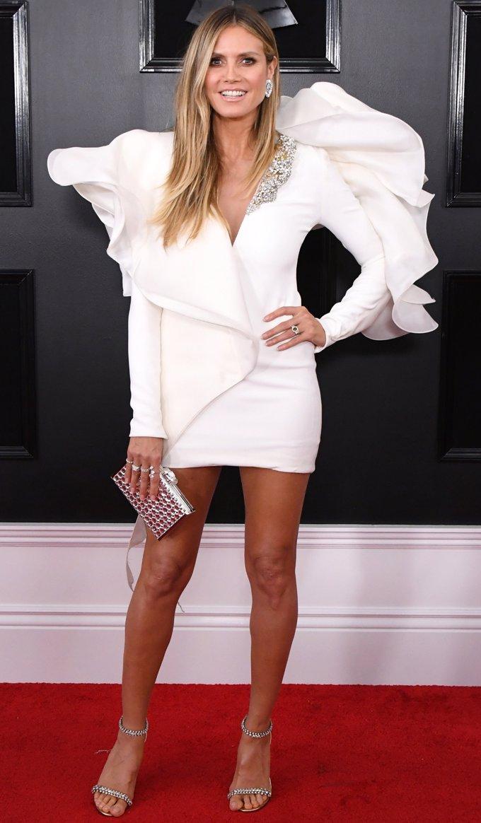 Heidi Klum apuesta por un minivestido- Getty