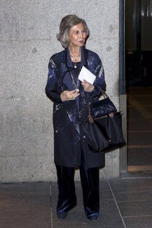 La Reina Sofía suple la ausencia de Don Juan Carlos en el 80 cumpleaños de la Infanta Margarita