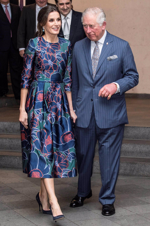 Reina Letizia de Carolina Herrera en Londres