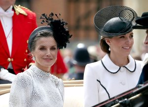 Kate Middleton y la Reina Letizia en Windor