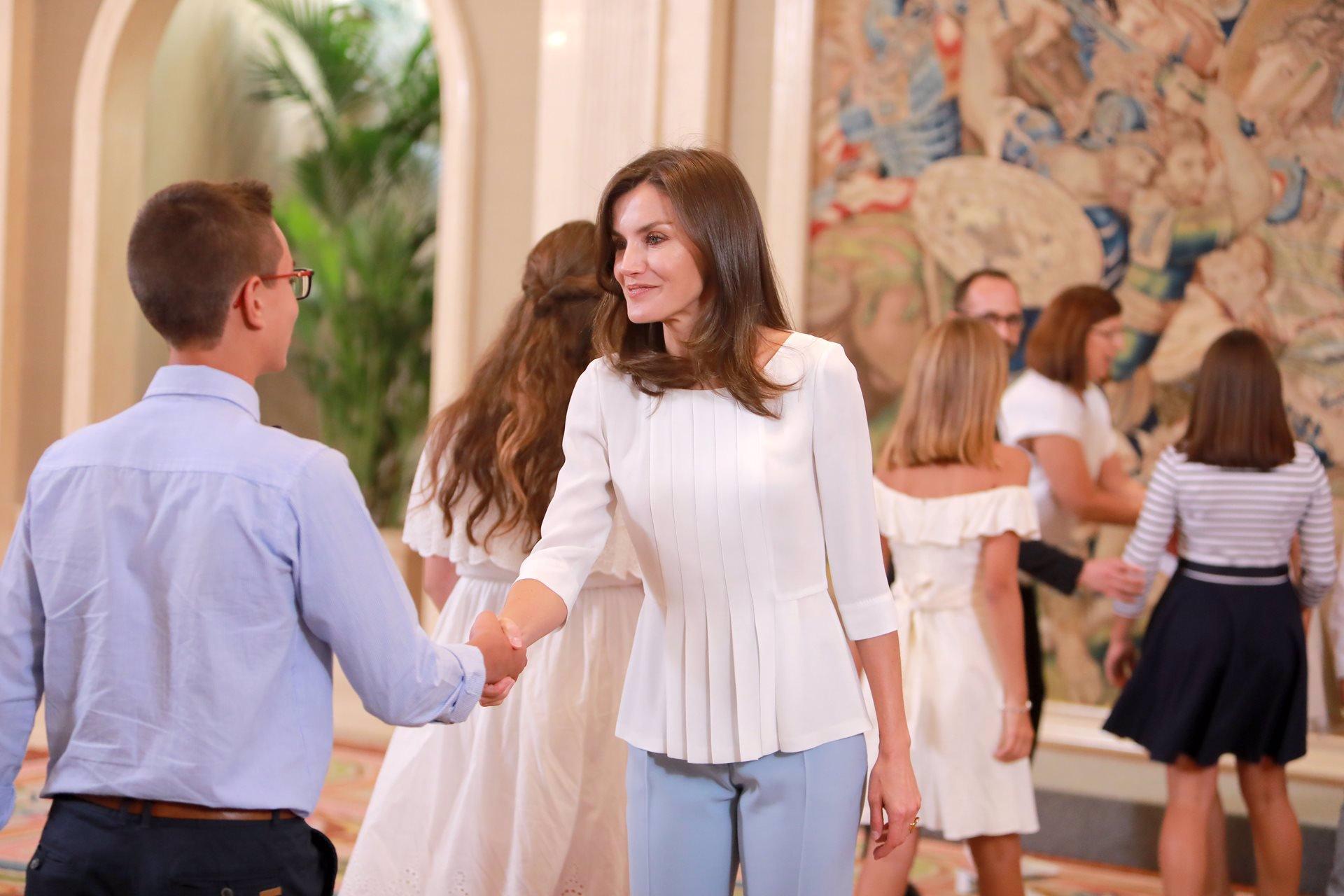 La Reina Letizia en la audiencia de la Zarzuela