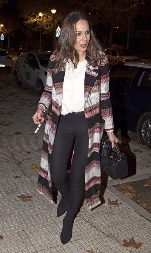 Eva González llega a su domicilio en Madrid
