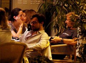 La venezolana y su pareja disfrutaron de una cena de lo más romántica