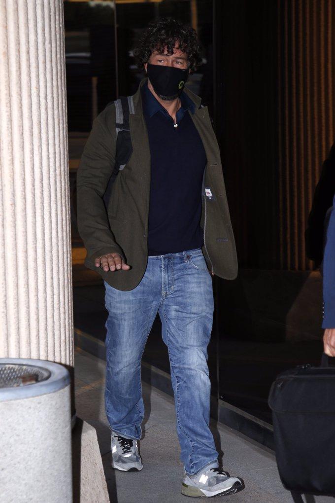 Nacho Palau, tranquilo y confiado a su llegada a los juzgados