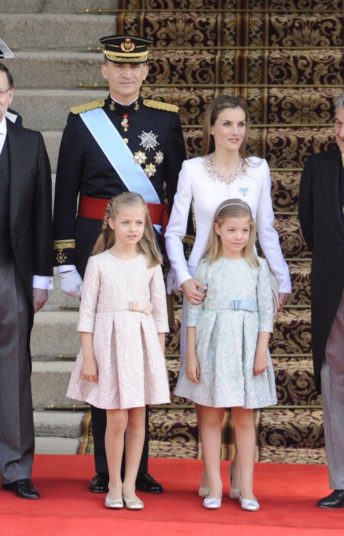 La Princesa Leonor el día de la proclamación de su padre como Rey