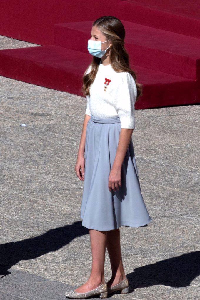 La Princesa Leonor, en el último desfile de las Fuerzas Armadas