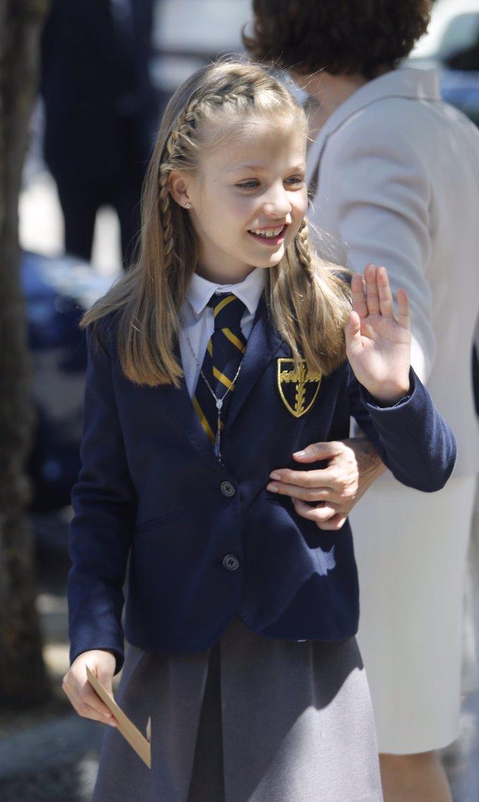 Leonor, el día de su primera comunión. Mayo 2015