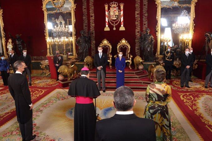 Los Reyes han presidido su primer acto conjunto de la semana