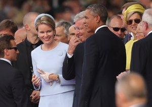Barack Obama junto a los reyes de Bélgica