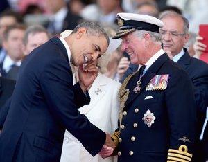 Obama, muy bromista junto al Príncipe Carlos