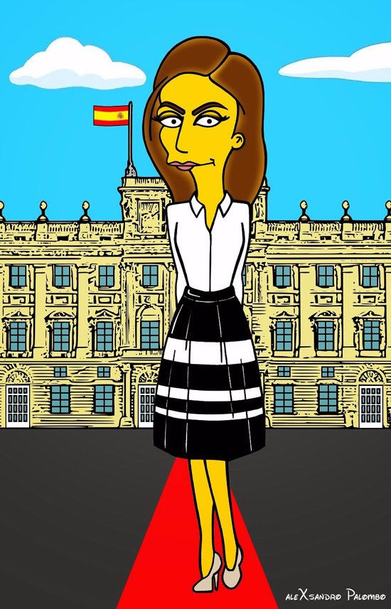 Reina Letizia Simpson con look audiencias