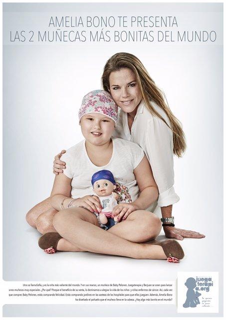 Baby Pelones, muñeca juegoterapia niños cáncer Amelia Bono