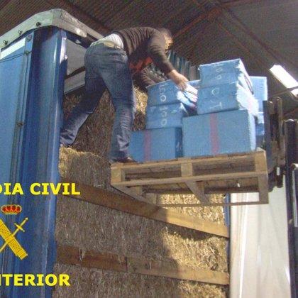 Guardia Civil detiene a cuatro personas y aprehende 750 kilos de resina de hachís con destino a Alemania
