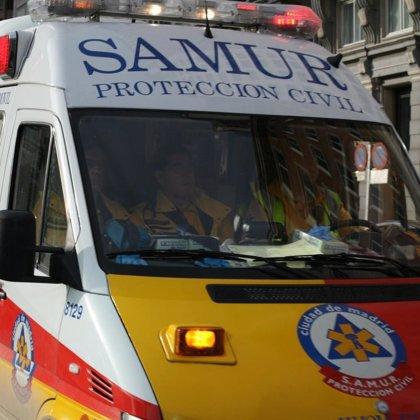 Dos heridos, uno de ellos muy grave, tras un atropello doble en la A-3 de Madrid