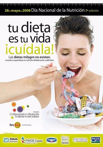 El Día Nacional de la Nutrición se dedicará este año a prevenir contra las 'dietas milagro'