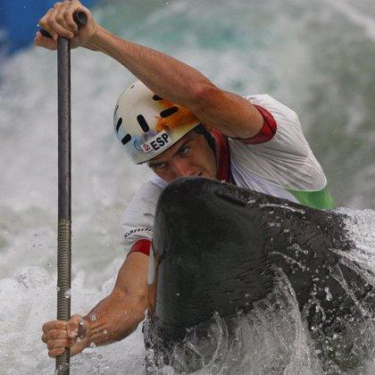 Ander Elosegui, cuarto, roza la medalla en la final de C1 en aguas bravas
