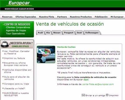 Europcar lanza un nuevo servicio de venta de vehículos de ocasión