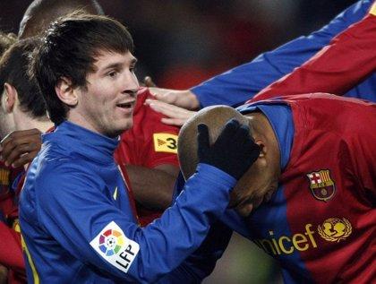 Messi lidera la goleada ante el Numancia