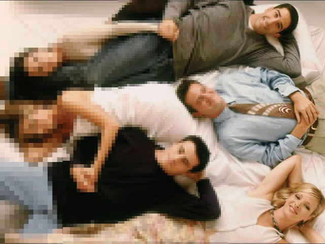 Degradado pixelado de la serie estadounidense Friends