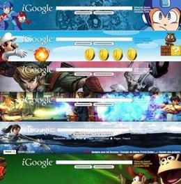 Los videojuegos ilustran la portada de iGoogle