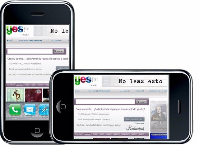 El servicio de música por streaming yes.fm llega a iPhone e iPod Touch