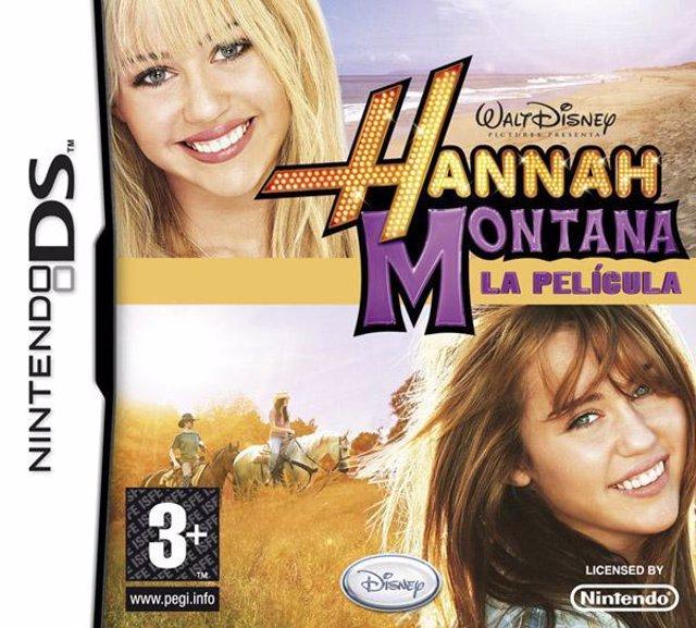 Portada del videojuego Hannah Montana La película para Nintendo DS