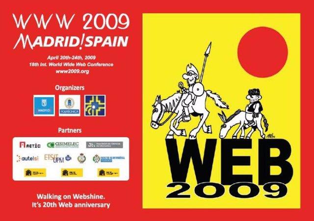 Cartel promocional del congreso sobre la web www2009 celebrado en Madrid