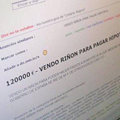 Denuncian 31 anuncios de venta de órganos en Internet